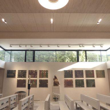 Innenraum der katholischen Kirche Mariä Himmelfahrt in Eybach