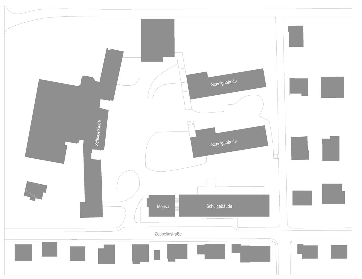 Lageplan der Mensa Hardtschule in Ebersbach