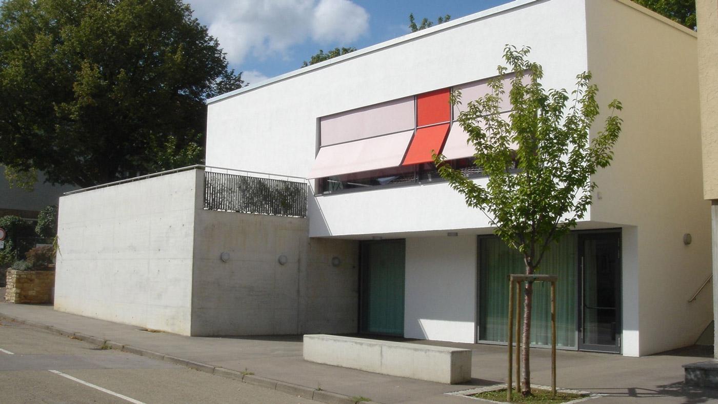 Südansicht der Mensa Hardtschule Ebersbach