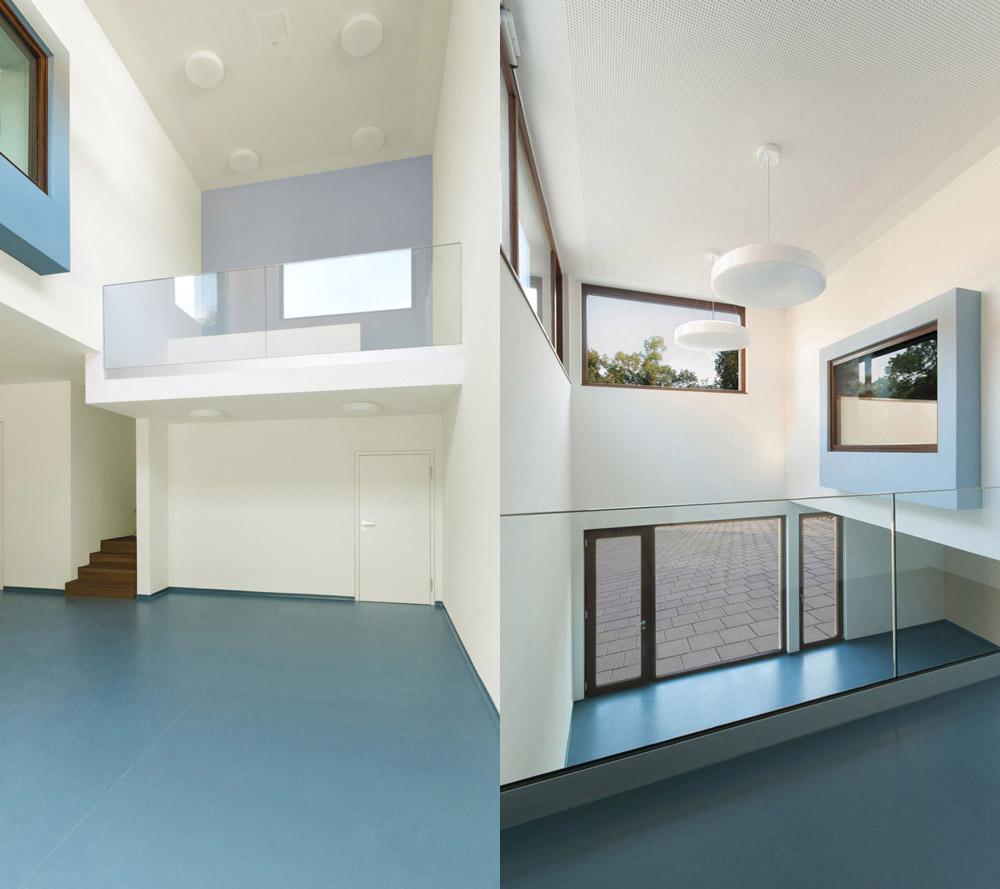 beide Ansichten des Innenraumes im Kinderhaus Ebersbach