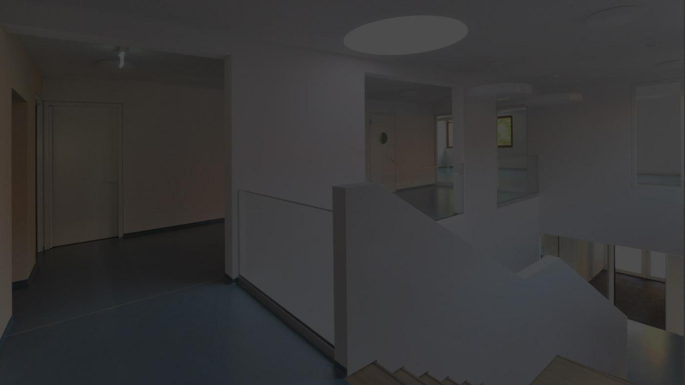 zweiter Stock im Kinderhaus Ebersbach abgedunkelt